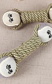 Игрушка для котов Игрушка для собак Игрушки для животных Жевательные игрушки Дразнилки Веревка Прочный Складной Хлопок Серый