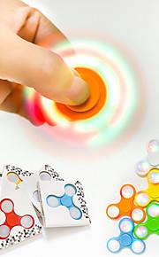 Snurrebass hånd Spinner Leker Originale biteleker LED-belysning Trekant Plast