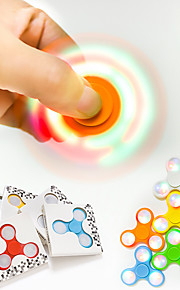 Spinning Top Hand Spinner Toys Novelty & Gag Toys LED Lighting Triangle Plastic