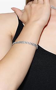 Dame Kæde & Lænkearmbånd Rhinsten Mode Rhinsten Geometrisk form Sølv Smykker For Fest Speciel Lejlighed 1 Stk.