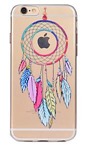 För Genomskinlig Mönster fodral Skal fodral Drömfångare Mjukt TPU för AppleiPhone 7 Plus iPhone 7 iPhone 6s Plus iPhone 6 Plus iPhone 6s
