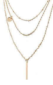 Dame Kort halskæde Halskædevedhæng Smykker Geometrisk form Guldbelagt LegeringEnkelt design Unikt design Tatovering Hængende Natur