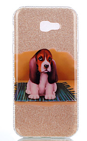 For Samsung Galaxy A3(2017) A5(2017) Double IMD Case Back Cover Case Puppy pattern Soft TPU A7(2017)