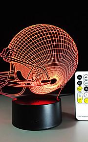 3d licht leidde Chicago draagt voetbal helm sport cap 3D LED 's nachts licht visuele lamp kerst cadeau voor kinderen