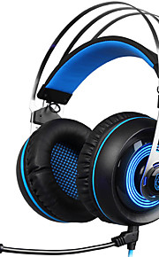 sades a7 3,5 mm hodetelefon stereo surround usb gaming headset spillet pannebånd micheadphone med mikrofon for mac pc yxej03