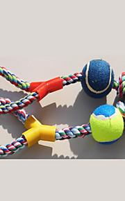 Игрушка для собак Игрушки для животных Жевательные игрушки Прочный Собака Хлопок Цвет отправляется в случайном порядке