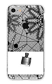 Para Translúcido Capinha Capa Traseira Capinha Design de Renda Macia TPU para AppleiPhone 7 Plus iPhone 7 iPhone 6s Plus iPhone 6 Plus