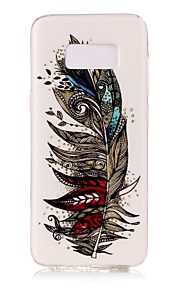 For Samsung Galaxy S8 Plus S8 Case Cover Feathers Pattern Luminous TPU Material IMD Process Soft Case Phone Case S7 S6 (Edge) S7 S6 S5