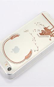 Per Con diamantini Transparente Fai da te Custodia Custodia posteriore Custodia Cartone animato Morbido TPU per AppleiPhone SE/5s iPhone