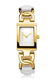 לנשים שעוני אופנה קווארץ סגסוגת להקה יום יומי זהב זהב