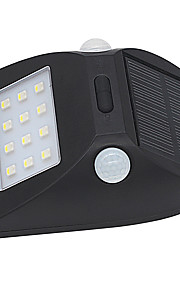 1pcs zonne-motion sensor licht buiten ip65 waterdicht geleid sensing bereik beveiliging nachtlicht met auto witte en kleurrijke modus voor