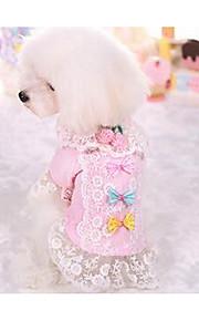 Hundar Klänningar Hundkläder Mode Ledigt/vardag Prinsessa Purpur Rosa