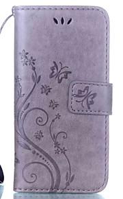 Para nokia 6 950 830 funda de la caja titular de la tarjeta de la cartera con el soporte flip patrón estampado en relieve caja de cuerpo