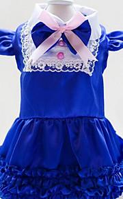 犬用品 Tシャツ 犬用ウェア 春/秋 ブリティッシュ キュート ファッション カジュアル/普段着 レッド ブルー