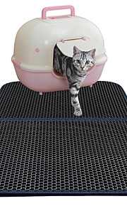 ネコ ベッド ペット用 マット/パッド 純色 防水 両面 高通気性 折り畳み式 ブラック