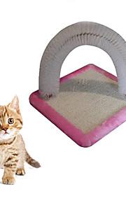 Katteleke Leker til kjæledyr Interaktivt Holdbar Klømatte Træ Stoff Svart Grønn Blå Rosa