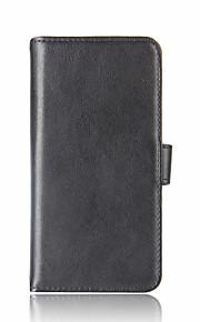 xiaomi redmi note 4x mi 6 카드 지갑 지갑 플립 케이스 전신 케이스 xiaomi 용 단색 하드 정품 가죽