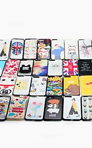 Til Apple iPhone 6 / 6s plus case cover mønster bagcover case cartoon hard pc flere stilarter tilfældig levering 1 stk