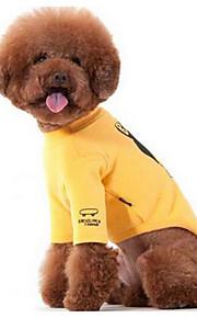 Собаки Футболка Одежда для собак Лето Цветы Милые Мода На каждый день Желтый