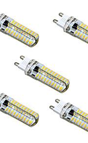 5W G9 G4 G8 GY6.35 LED-lamper med G-sokkel T 80 SMD 4014 400-500 lm Varm hvit Kjølig hvit Dimbar AC110 AC220 V 5 stk.