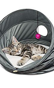 ネコ ベッド ペット用 バスケット 純色 高通気性 折り畳み式 グレー