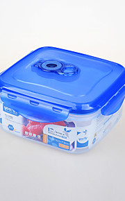 High Quality Plastic Crisper Food Storage Box with Sealed Lid