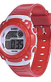 Masculino Relógio Esportivo Relogio digital Chinês Digital Silicone Banda Azul Vermelho Amarelo