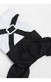 Hundar T-shirt Hundkläder Vår/Höst Britisk Gulligt Mode Ledigt/vardag Svartvit