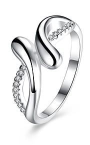 Ring Kvadratisk ZirconiumEnkelt design Rundt design Unikt design Hjerte Geometrisk Venskab minimalistisk stil Britisk Klassisk På tværs
