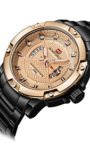 NAVIFORCE Masculino Relógio Esportivo Relógio de Moda Relógio de Pulso Relógio Casual Quartzo Calendário Aço Inoxidável BandaLegal Casual