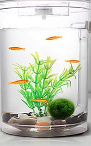 수족관 장식 미니 어항 장식품 에너지 절약 무소음 무독성&무미 살균장치 모형 스위치 포함 조절 가능 야광 플라스틱 투명