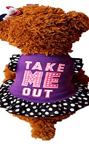 Holdhoney Dog Dress Rose/Purple/Pink Dog Clothes  Summer Letter & Number Cute#LT15050288