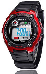 Masculino Relógio de Moda Digital Silicone Banda Preta