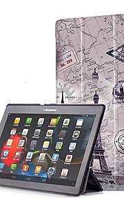 Print hoesje voor lenovo tab3 tab 3 10 zakelijke x70f x103f tb3-x70m met schermfolie