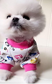 Cat Dog Pajamas Dog Clothes Cute Casual/Daily Animal Orange Red Blue Blushing Pink