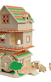 Puslespill 3D-puslespill Byggeklosser GDS-leker Arkitektur Tre Modell- og byggeleke