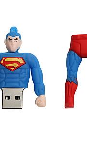 Nuevo creativo de la historieta usb del superhombre 2.0 64gb impulsión del flash u palillo de la memoria del disco