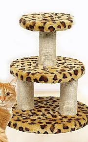 Brinquedo Para Gato Brinquedos para Animais Interativo Durável Tapete de Arranhar Madeira Felpudo Leopardo
