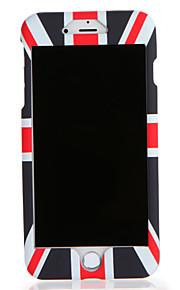 Para Apple iphone 7 7plus caso capa padrão corpo inteiro bandeira rígido pc 6s mais 6 mais 6s 6