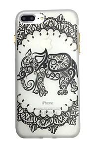 For glød i det mørke mønsteret tilfelle bakdeksel tilfelle elefant myk tpu for iphone7 7plus 6 6splus 5 5s