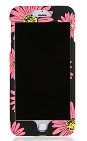 Para apple iphone 7 7plus caso capa padrão corpo completo flor disco rígido pc 6s mais 6 mais 6s 6