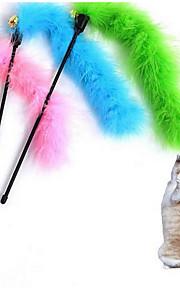 猫用おもちゃ ペット用おもちゃ インタラクティブ ティーザー 耐用的 コットン クロス ランダムカラー