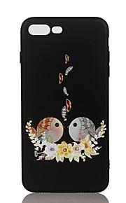 Caso para Apple iphone 7 7 mais capa de capa em relevo padrão tampa traseira caso pássaro suave tpu para 6 6s mais