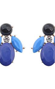 Dame Pige Stangøreringe RhinstenEnkelt design Unikt design Blomster Rhinsten Venskab Sexet Britisk Klassisk Mode Elegant Vintage Boheme