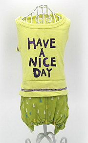 Dog Clothes/Jumpsuit Dog Clothes Casual/Daily Letter & Number Yellow Gray