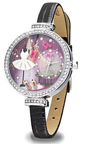 Жен. Модные часы Кварцевый Цифровой Защита от влаги PU Группа Черный