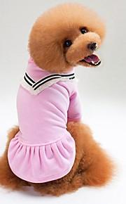 Gato Cachorro Camiseta Moletom Roupas para Cães Casual Sólido Preto Rosa claro