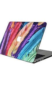 For New MacBook Pro 13 15 Air 11 13 Pro Retina 13 15 Macbook 12 Case Cover PVC Material Oil Painting Feathers MacBook Case