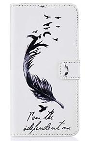 Per mela iphone 7 plus 7 6s più 6s 5 5s se custodia porta carte portafoglio con stelo flip modello completo corpo con piume stilo hard pu