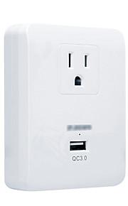 Steckdose 1 USB-Anschluss 1 Steckdosen 15a 125v Smart Steckdose uns Stecker
